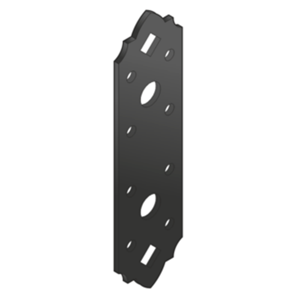 Összekötő lemez fekete díszes 131 x 35
