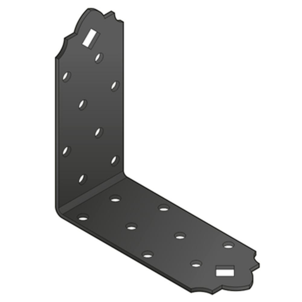 Sarokösszekötő lemez fekete díszes 98 x 98 x 40