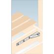 Beton-acéllemez összekötő erősített 400 x 65 x 65 x 2,5