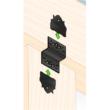 Összekötő lemez fekete hajlított 98 x 28 x 85 díszítőelemmel kiegészíthető