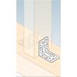 Sarokösszekötő lemez horganyzott erősített 90 x 90 x 65 x 2,5 állítható szimpla