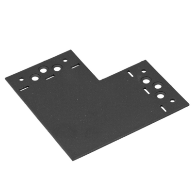 """Összekötő lemez fekete """"L"""" 146 x 146 x 85 díszítőelemmel kiegészíthető"""