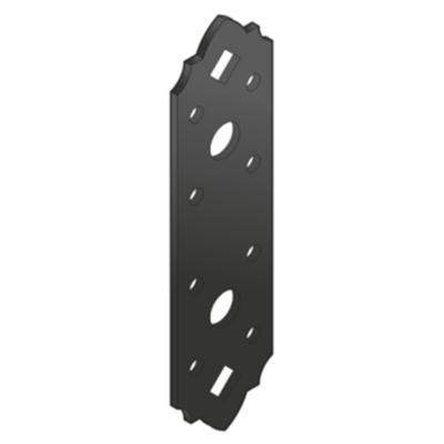 Összekötő lemez fekete díszes 190 x 55