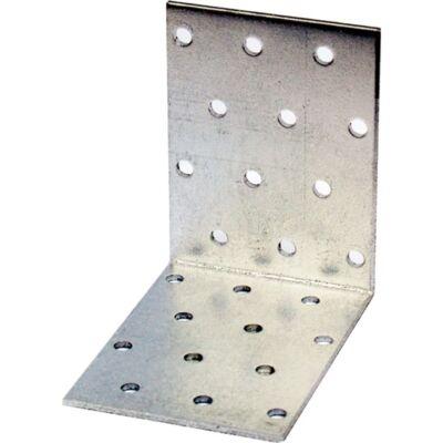 Sarokösszekötő lemez horganyzott perforált 100 x 100 x 80