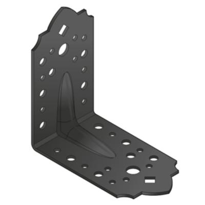 Sarokösszekötő lemez fekete díszes erősített 115 x 115 x 65