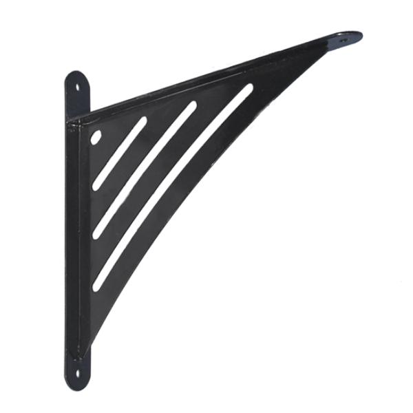 Polctartó konzol erősített festett 194x200x26 fekete