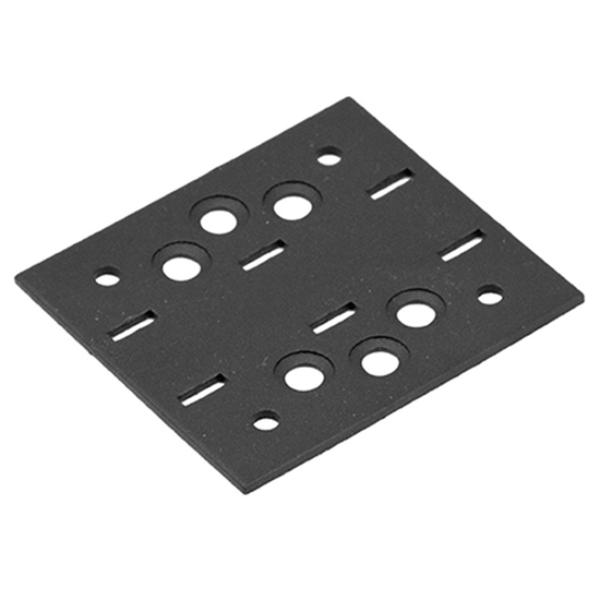 Összekötő lemez fekete 76 x 85 díszítőelemmel kiegészíthető