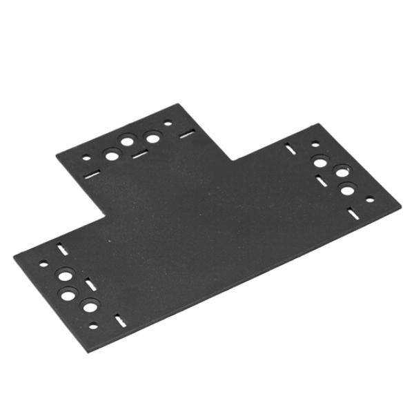 """Összekötő lemez fekete """"T"""" 207 x 146 x 85 díszítőelemmel kiegészíthető"""