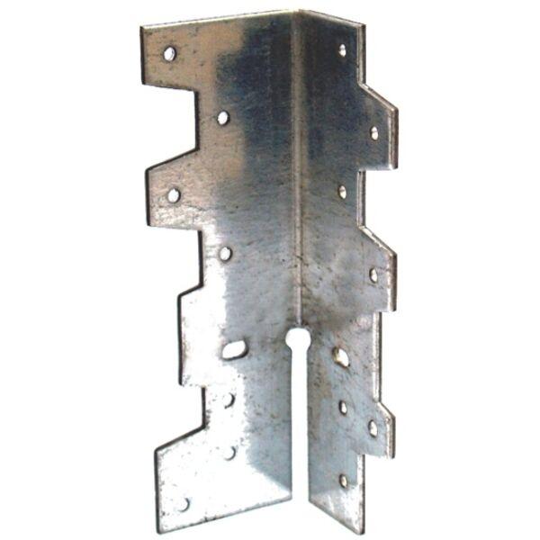 Sarokösszekötő lemez horganyzott többfunkciós 40 x 40 x 120