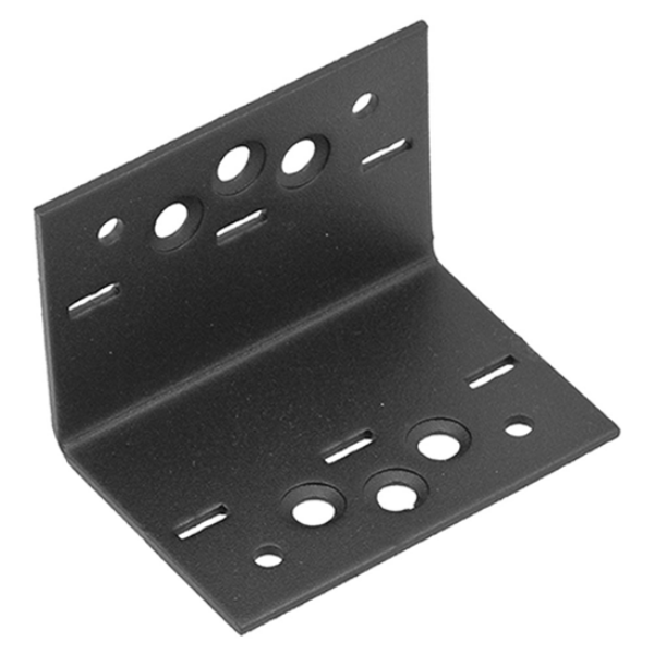 Sarokösszekötő lemez fekete 61 x 61 x 85 díszítőelemmel kiegészíthető