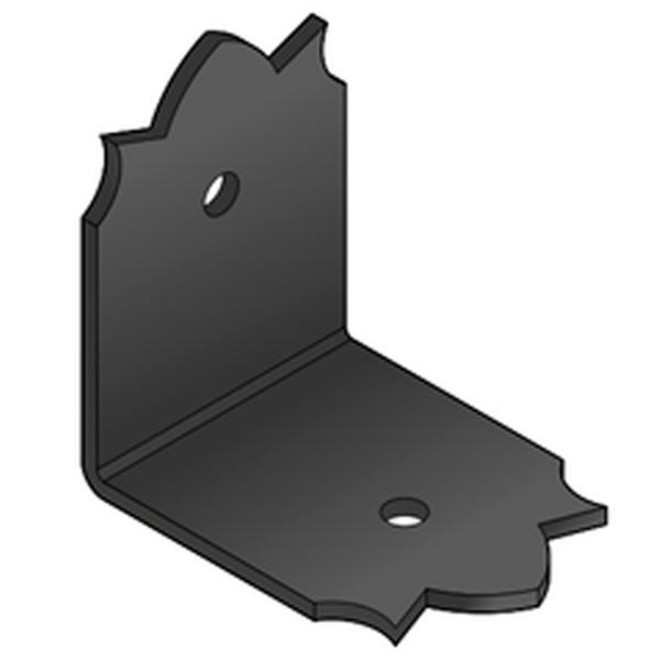Sarokösszekötő lemez fekete díszes 52 x 52 x 40